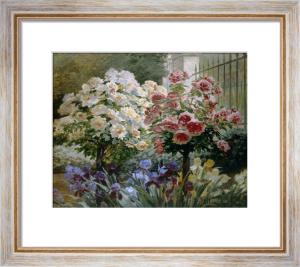 Garden Flowers by Eugene Auguste Francois Deully