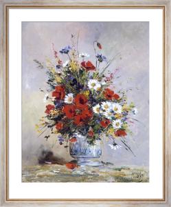 Bouquet of Flowers (Poppies) by Eugene Henri Cauchois