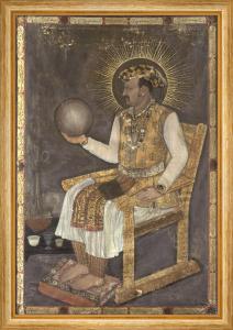 Jahangir Holding a Globe, Mandu, 1617 by Abu'l-Hasan