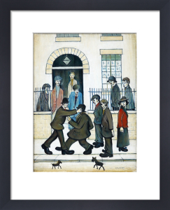 A Fight, c.1935 by L S Lowry