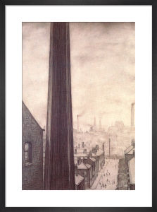 A View From The Window Of The Royal Technical College, Salford, 1924 by L S Lowry