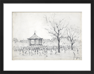 Bandstand, Peel Park, Salford, 1924 by L S Lowry