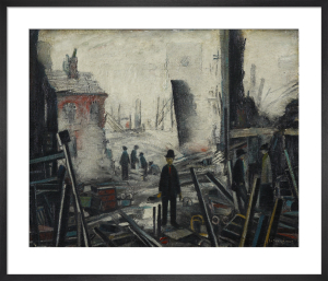 Blitzed Site, 1942 by L S Lowry