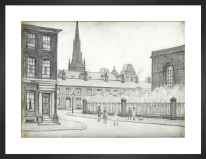 By St Philips Church, Salford, 1926 by L S Lowry