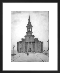 Christ Church, Salford, 1956 by L S Lowry