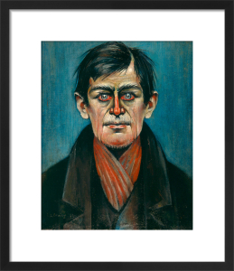 Head Of A Man (With Red Eyes), 1938 by L S Lowry