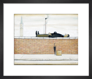 Man Lying On A Wall, 1957 by L S Lowry