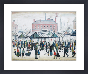 Market Scene, Northern Town, 1939 by L S Lowry