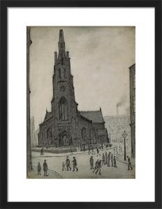 Street Scene (St Simon's Church), 1927 by L S Lowry