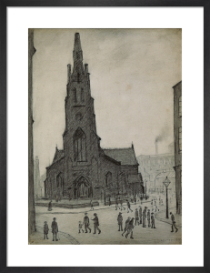 Street Scene (St Simon's Church), 1927 by L S Lowry