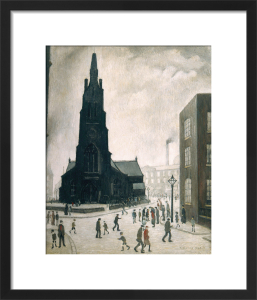 Street Scene, St Simons Church, 1928 by L S Lowry