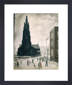 Street Scene, St Simons Church, 1928 by L S Lowry