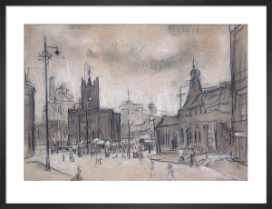 The Flat Iron Market, 1925 by L S Lowry