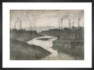 The River Irwell At The Adelphi, 1924 by L S Lowry