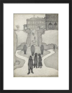 The Steps, Peel Park, Salford, 1930 by L S Lowry