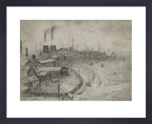 View From The Window Of The Royal Technical College, Looking Towards Broughton, 1925 by L S Lowry