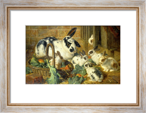 Bunnies, 1881 by Charles Burton Barber