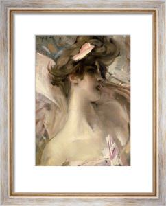 Young Brunette in Pink by Giovanni Boldini