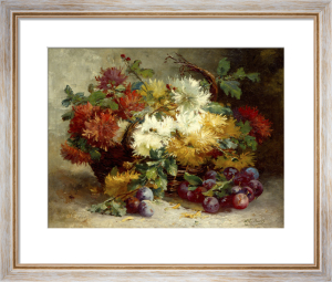Flowers and Fruit by Eugene Henri Cauchois