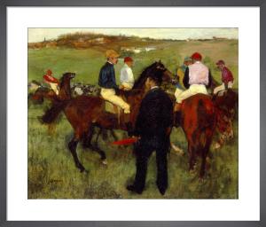 Les Chevaux de Courses, c.1871-72 by Edgar Degas