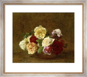 Roses dans une Coupe by Ignace-Henri-Théodore Fantin-Latour