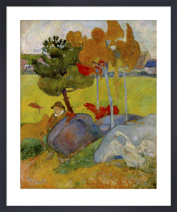Petit Breton a l'Oie, 1889 by Paul Gauguin