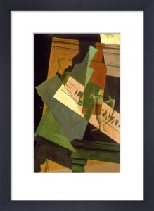 Bouteille, Verre et Journal, 1916 by Juan Gris