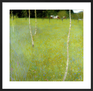 Farmhouse with Birch Trees - Young Birch Trees, 1900 by Gustav Klimt