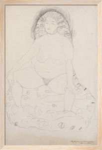 Seated Nude with Parted Legs, c.1909-10 by Gustav Klimt