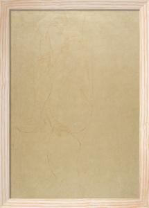 Liegender Akt by Gustav Klimt