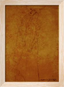Two Women in Street Clothes by Gustav Klimt