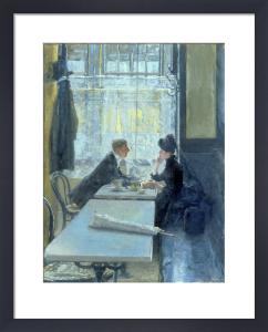 Amoureux au Cafe by Gotthardt Kuehl