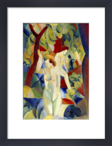 Woman Bathing, 1913 by August Macke