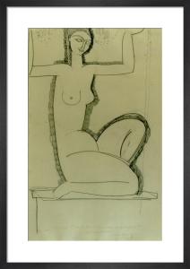 Caryatide au Chandeliers, c.1911 by Amedeo Modigliani