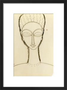 Tete de Face by Amedeo Modigliani