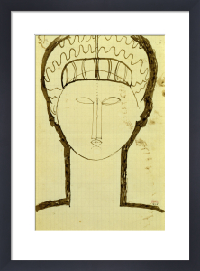 Tete et Epaules de Face, c.1912 by Amedeo Modigliani