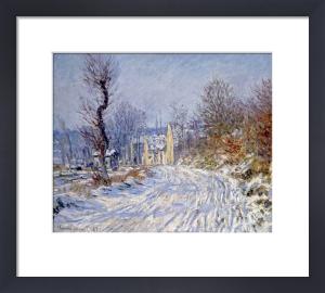Route de Giverny en Hiver by Claude Monet