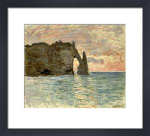 La Falaise d'Etretat, 1883 by Claude Monet