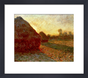 Haystacks, Last Rays of the Sun by Claude Monet