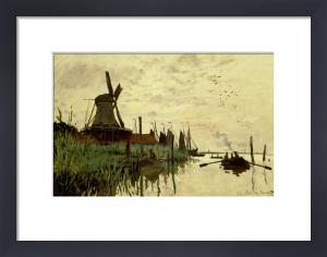 Moulin a Vent et Bateaux a Zaandam, 1872 by Claude Monet