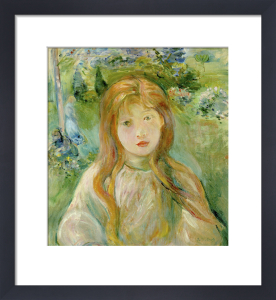 Jeune Fille a Mesnil, 1892 by Berthe Morisot