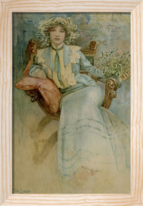 Mistletoe: Portrait of Mme. Mucha, 1903 by Alphonse Mucha