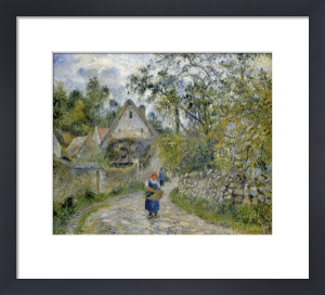 Le Chemin de Hameau - Chaumieres a Valhermeil by Camille Pissarro