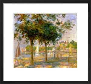 La Plage a Pornic, La Voile Blanche by Pierre Auguste Renoir