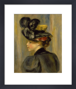 Jeune Femme au Chapeau Noir, 1895 by Pierre Auguste Renoir