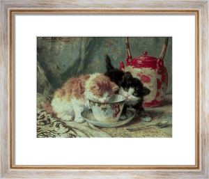 Tea-Time by Henriette Ronner-Knip