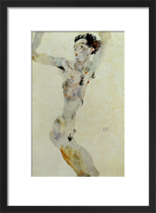 Male Nude with Raised Arms - Self Portrait, 1911 by Egon Schiele
