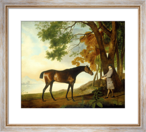 Shark with his Trainer Price in a River Landscape by George Stubbs