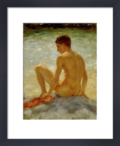 The Bather, 1923 by Henry Scott Tuke