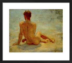 A Sunbather by Henry Scott Tuke